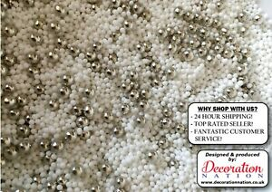 Silver Pearls For Cake Decorating  from i.ebayimg.com