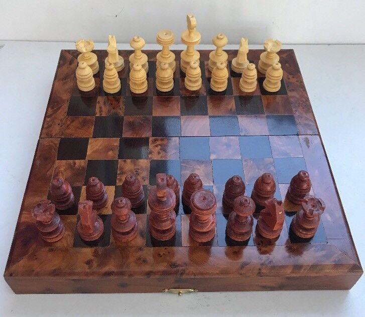 Beautiful Wooden Box Chess Set