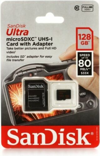 SanDisk Ultra 128GB MicroSDXC Verified for Asus P527 by SanFlash 100MBs A1 U1 Works with SanDisk