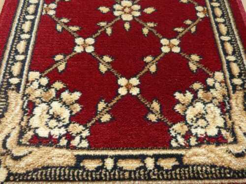 Tapis Classique Traditionnel Persan Bordure Orient FE Rouge Salon Couloir