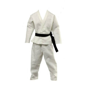 1-6-Blanc-Karate-Judo-Costume-formation-Wu-Shu-Vetements-Pour-12-034-Action-Figure