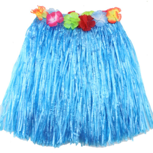 Ladies Women Hawaii Fancy Dress Grass Skirt Hula Hawaiian Full Charming RDR
