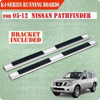 Fit 05-12 Nissan Pathfinder 4 Nerf Bar Side Step Running Board Side Bar Ss H