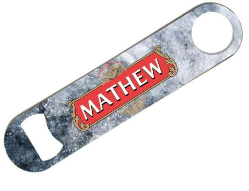 Personalised Any Name Bar Blade Beer Home Pub Cafe Occasion Bottle Opener 30