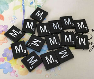 10 USA! Maroon /& Silver Scrabble Letter Tiles A to Z In Stock Letter M TEN