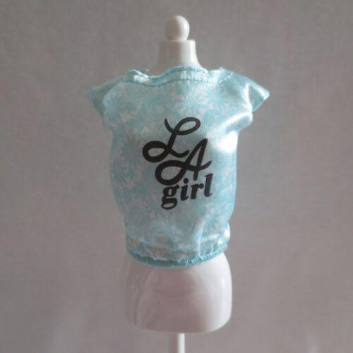 NEW Barbie Fashionista LA Girl Doll Green Blue Silky Top ~ Clothing