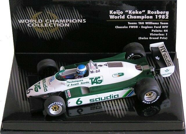 Minichamps F1 1 43rd scale - Keke ROSBERG - Williams FW08 - 1982 World Champion