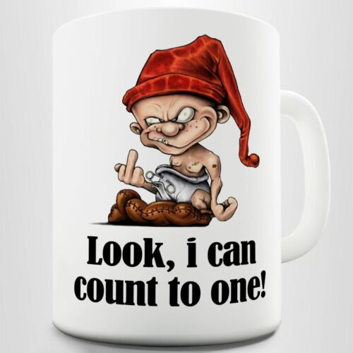 I Can Count To One Look Funny Sarcastic Printed Coffee Mug