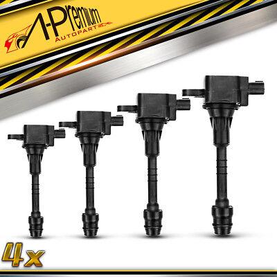 Set 4 High Energy Ignition Coils For 02 03 04 05 06 Nissan Sentra 1.8L UF351