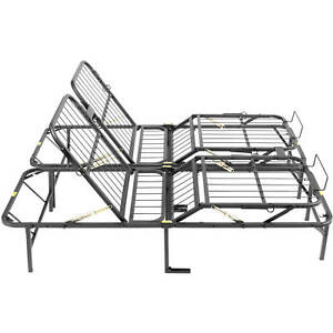 Heavy Duty Bed Frame Head and Foot Adjustable Lift KING SIZE  Steel Platform