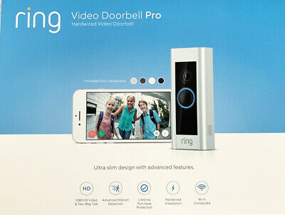 BRAND NEW Ring Video Doorbell Pro Hardwired New Sealed Original Box 1080 HD WiFi