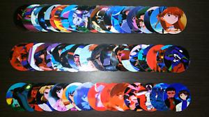 Evangelion Tazos Complete Set 54 54    Ultra Rare. Tazos, Taps, Pogs.