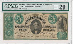 PM0106-1861-5-PMG-VF20-confederate-contemporary-restrike-combine-shipping