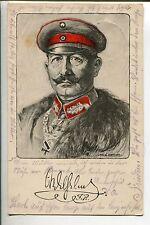 Adel & Monarchie Kaiser Wilhelm signierte Künstler AK Paul Peters Faksimile FP