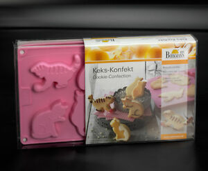 RBV-Birkmann-16er-Silikon-Backform-Keks-Konfekt-Katze-Katzen-Kater