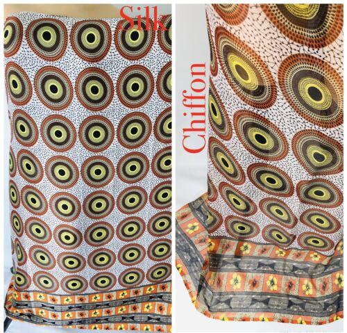 environ 0.91 m Premium African Ankara satin soie et mousseline imprimé tissu Allée Craft Tissu 1 Yd