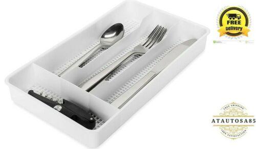 Silverware Drawer Tray Organizer Kitchen Storage Holder Flatware Cutlery Utensil