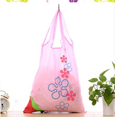 New Eco Storage Handbag Strawberry Foldable Shopping Bags Reusable Bag 8 colors