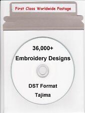 36,000+ DST Tajima Machine Embroidery Designs & Full Colour Catalogue NEW