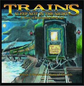 CHILDRENS BOOK ABOUT TRAINS AND TWO FREE POSTERS