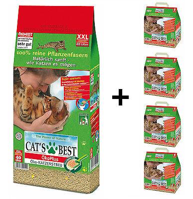 Cats Cat´s Best Öko Plus 60 Liter (ca. 27kg) Ökostreu 1x40Liter +4 x 5 Liter!!!