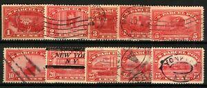 USA-1912-Range-of-Parcel-Post-Stamps-1c-to-75c-no-15c-sgP423-33-cv-170-Stamps