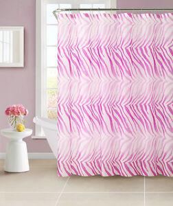 Purple Pink Zebra PEVA Bath Shower Curtain Victoria