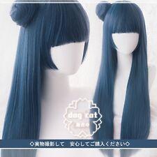 Love Live! Sunshine! Aqours Tsushima Yoshiko Blue mixed Cosplay Costume  Perücke