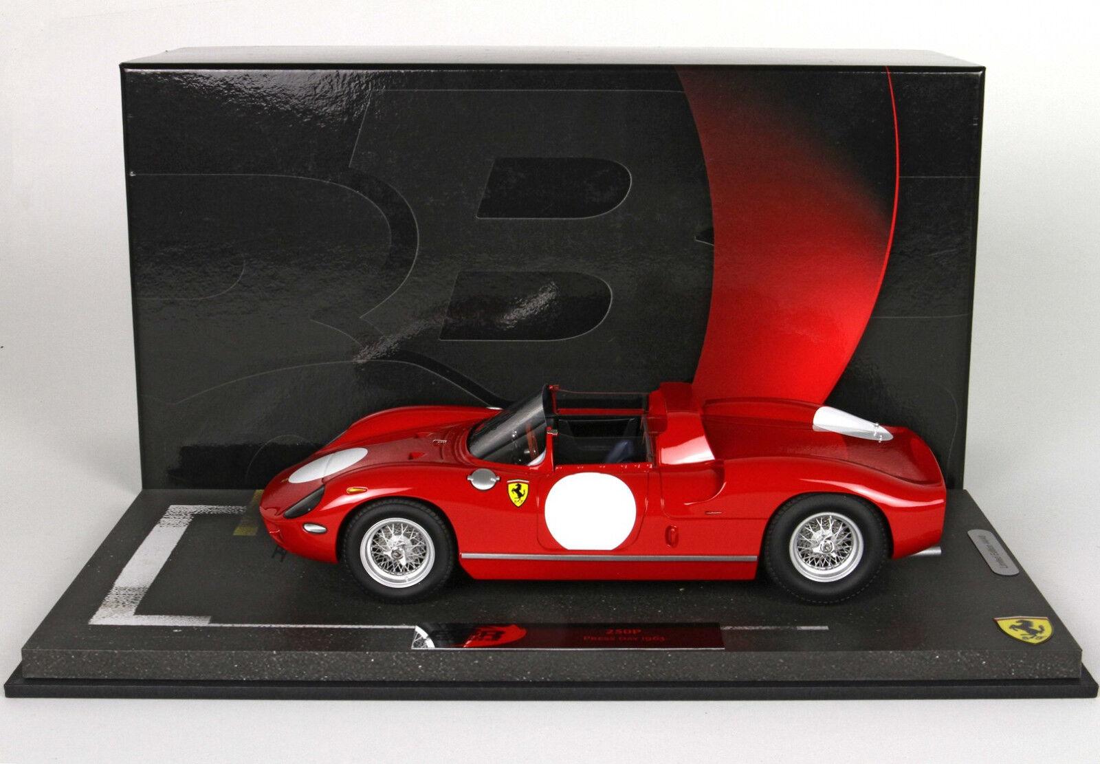 El ultimo 2018 FERRARI 250 P P P Press Version 1963 rojo 1 18 lim.ed. 48 pcs BBR Models  precio razonable