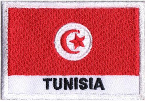 patch Patch patch Abzeichen zum Nähen Flagge Tunisian Tunesien 70 x 45 mm