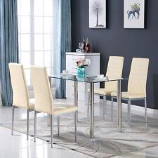 Tangkula 5 Piece Glass Top Metal Dining Set Kitchen Breakfast Furniture For Sale Online Ebay