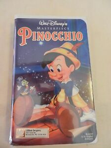 Walt-Disney-039-s-Masterpiece-Pinocchio-VHS-1993-Clam-Shell