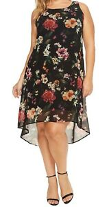 7c669271067 NEW NWT Karen Kane Plus Size Floral Sleeveless High-Low Hem Dress 3X ...