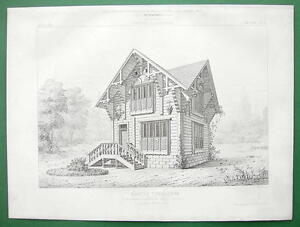 ARCHITECTURE-PRINT-Tyrol-Wood-Timber-Cottage-1867-Exposition
