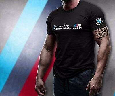 BMW MOTORSPORT Black T-Shirt 100% Cotton