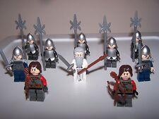 LEGO® lotr minifigure custom white gandalf gondor hobbit castle armor helmet lot