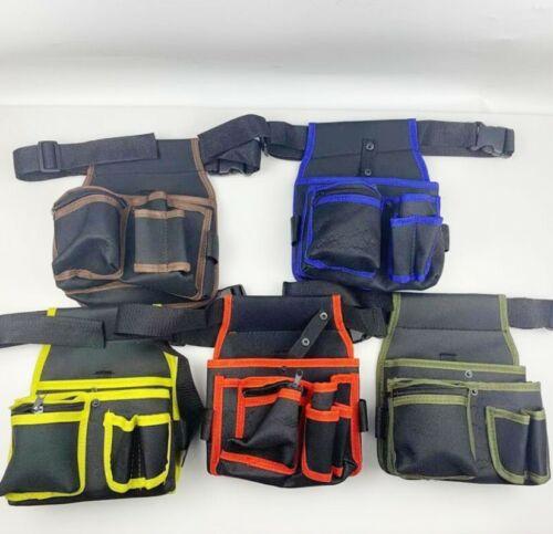 Durable Electrician Tool Bag Waist Pocket Screwdriver Storage Belt Bags Holder