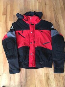0717b3622 Details about Vintage TNF North Face Red Steep Tech Moto short Jacket sz L  large 1998 supreme