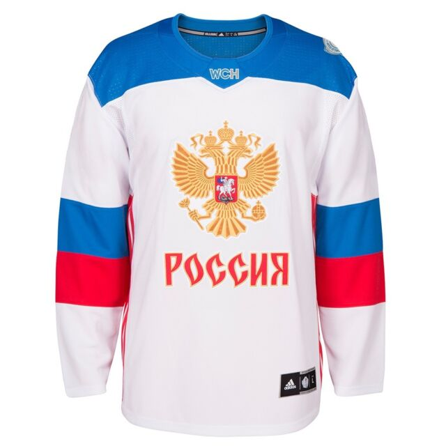 Russia NHL adidas Men s White 2016 World Cup of Hockey Premier Away Jersey a6cd7db83