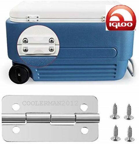 2 Pique Coton De Remplacement En Acier Inoxydable Refroidisseur Charnières Charnière pour Igloo Ice Coffres 3