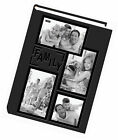 """Pioneer 3 up Album 300 4x6"""" Photo Sewn Embossed Leatherette Frame Family Black"""