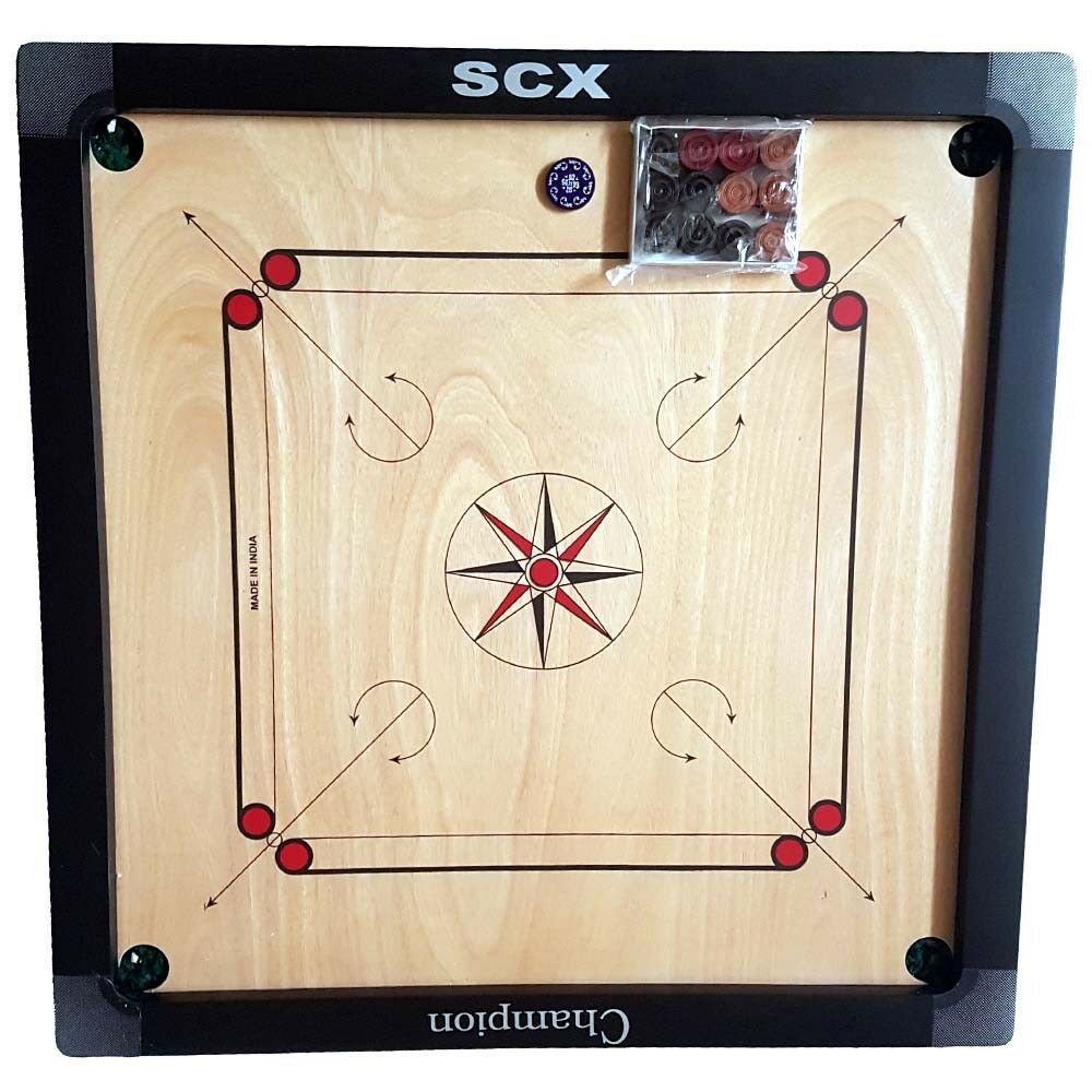 New High Quality Carrom Board Game Large 29 X 29 inch  Great for Family Fun