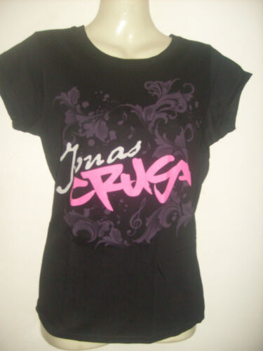 Disney Jonas Brothers Crush ladies//girls black//pink T-shirt Size 8,10,12,14 NEW