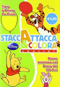 Tigro-e-Winnie-the-Pooh-Staccattacca-e-colora-special-Disney-Libro-nuovo
