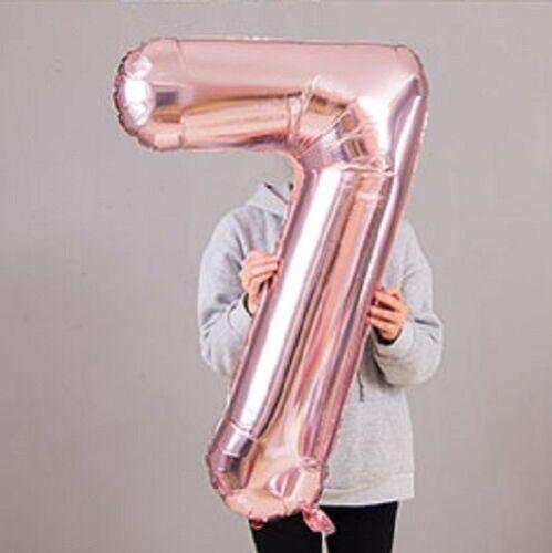 approx. 101.60 cm Hoja De Oro Rosa Gigante 40 in Globos Fiesta Decoraciones aniversario número