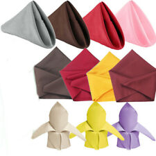 10x Wedding Party Restaurant Table Decoration Polyester Dinner Cloth Napkins ZB