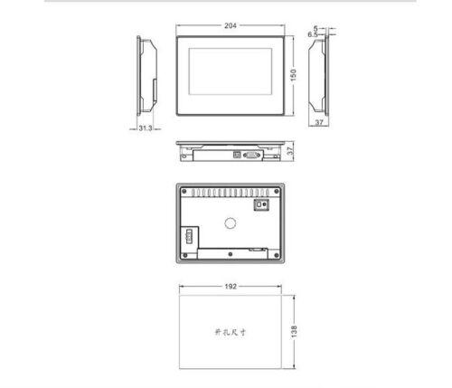 "MT4434TE KINCO HMI Touch Screen Panel 7/"" TFT LCD 800*480 Ethernet USB"