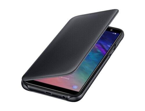 Samsung Galaxy A6 2018 negro caso Original Abatible Billetera Cubierta Samsung Oficial