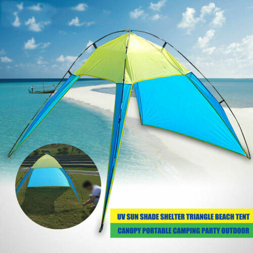 Outdoor Canopy Pop Up Camping Sun Shade Shelter Triangle Beach Tent 5-8 Man HC