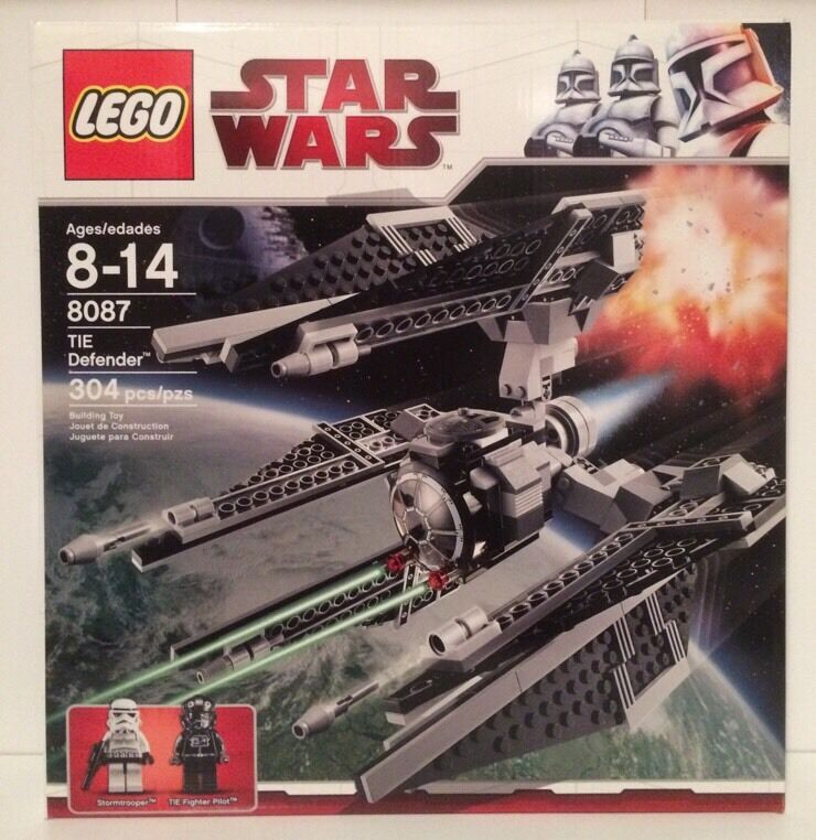 Lego 8087 TIE Defender New And Factory Sealed Retired Set 304 Pieces